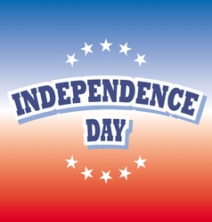 Independence day usa banner on red and blue vector