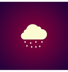 Cloud rain icon vector