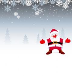 Santa Christmas background vector image