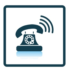 Old telephone icon vector