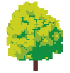 abstract tree - pixel tree vector image vector image