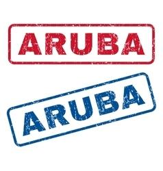Aruba rubber stamps vector