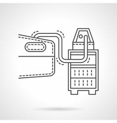 Automobile test flat line design icon vector