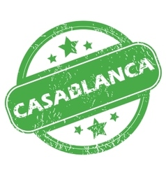 Casablanca green stamp vector