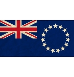 Cook Islands paper flag vector image vector image