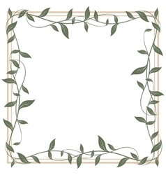 Decorative frame of leaves vector image vector image