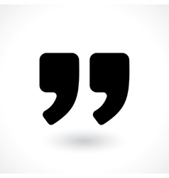 double commas vector image