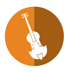 fiddle classical music instrument shadow vector image vector image