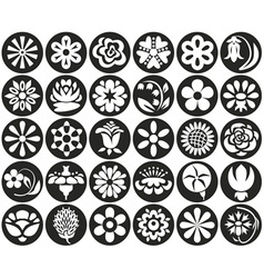 flowers will circle vector image vector image