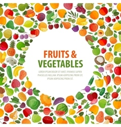 food logo design template fruits and vector image vector image