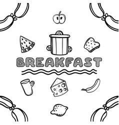 hand drawn breakfast sketch vector image