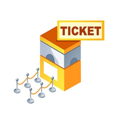 Icon ticket box vector