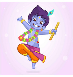 Little cartoon krishna vector