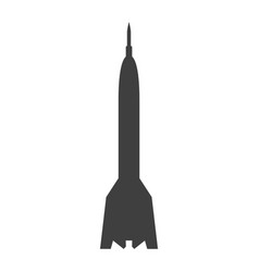 rocket sign black icon on vector image vector image