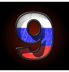 Russian metal figure 9 vector
