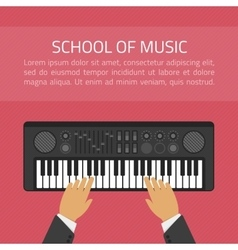 School of music vector image