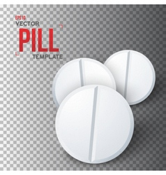 Set of photorealistic medicine pill vector
