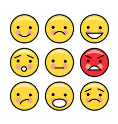 Simple yellow emoticons vector