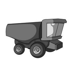truck with a large windshield agricultural vector image vector image