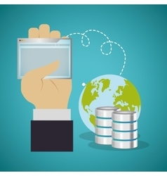 Web hosting planet design vector