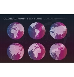 World map globe Earth texture vector image