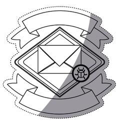 Envelope bug and security system design vector