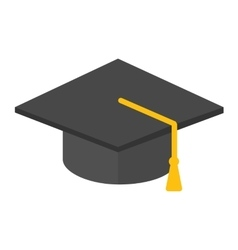 Graduation hat isolated vector image