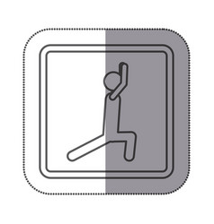 Figure person stretching doing exercise icon vector