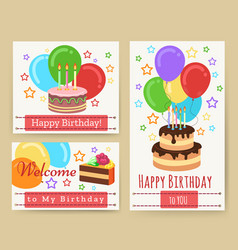 birthday greeting card templates for kids vector image