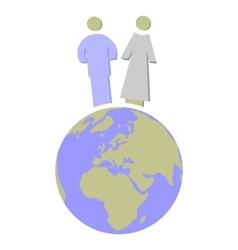 Earth globe set 010 vector image