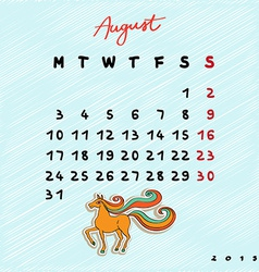 2015 horses august vector image