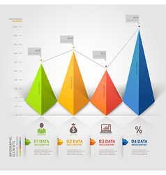 3d business triangle infographics vector image vector image