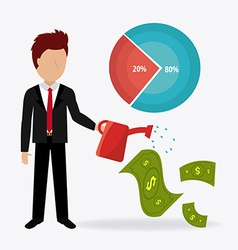 Business profit design vector
