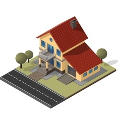 Cottage isometric eps10 vector