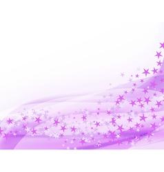 purple waving background vector image