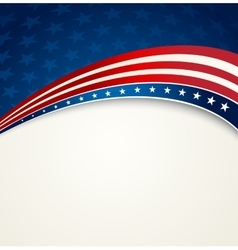 American Flag patriotic background vector image