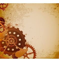 Abstract industrial background with gears vector
