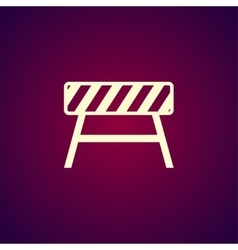 Roadblocks icon flat vector