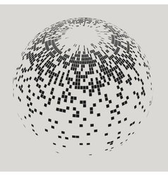 Abstract Sphere with Squares vector image vector image