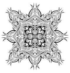 Abstract tattoo ornament pattern vector