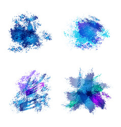Abstract watercolor spots vector