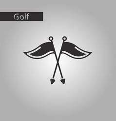 Black and white style icon golf flags vector
