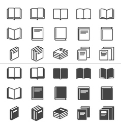Book thin icons vector image vector image