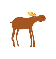 Bull elk personage vector