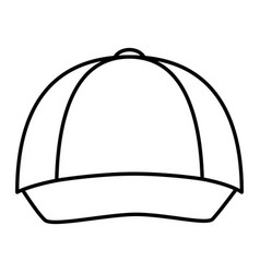 courier cap uniform icon vector image