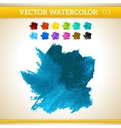 Dark blue watercolor artistic splash for design vector
