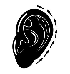 Ear reduction icon simple style vector