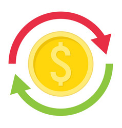 Exchange flat icon business and finance dollar vector