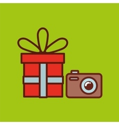 Fathers day gift camera icon design vector