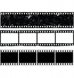 grunge film strips vector image